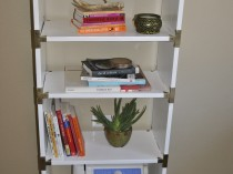 White Campaign Bookcase