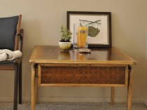 Lane Perception Basket Weave Side/Accent Table