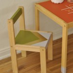 Vintage Green and Gold Children's Chair