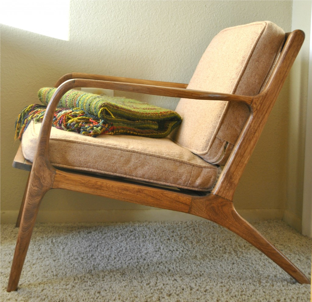 Danish mid century teak lounge chair trevi vintage design for Modern design lounge chairs