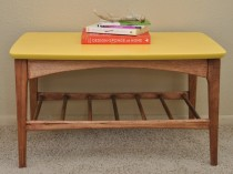 Mustard Yellow Mid Century Table