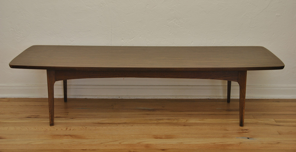 Mid Century Danish Modern Surfboard Coffee Table