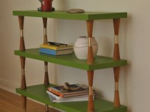 Green Mid Century Shelf