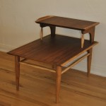 Mid Century Two Tier Wood Side Table