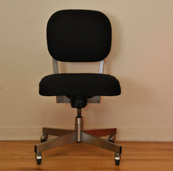 Vintage Black All Steel Office Chair Trevi Vintage Design